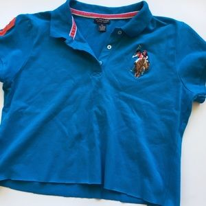 Ralph Lauren Polo Bright Blue Cropped Polo